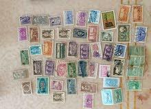 مجموعة من الطوابع القديمة ومنها نادر