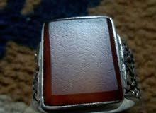 خاتم عقيق يماني صياغة قديمه جدا للبيع