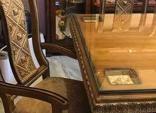 طاولة وكراسي خشب زان للبيع