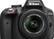 كاميرا نيكون d3300  مستخدمه اخت الجديده