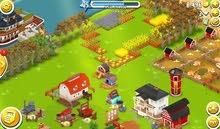 قرية كلاش اوف كلانس لفل 8 +مزرعة هي دي لفل 25 +جزيرة بون بيتش لفل 4