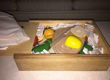 Wooden fruits and vegetables cutting toy (للعب والتعليم)