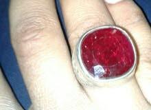 خاتم حجر ياقوت افريقي  ملكي