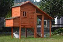 بيوت خشبية للدجاج والحيوانات الاليفة