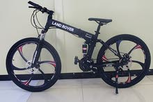 """LAND ROVER Black 26"""" FOLDABLE BICYCLE - Alloy Wheels"""