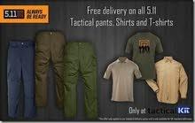 ملابس 5.11كافة الأنواع والقياسات