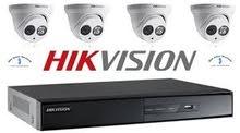 كاميرات مراقبة  AHD2M hikvision وساعات دوام للموظفين واجهزة انذارضد السرقة