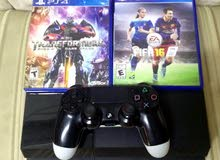 ps4 500 gb + 1 controller + 2 games