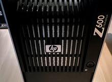 رمات 24 جيجا(بالضماان) HP Z600 XEON x5650 ×2 ب2 برسيسور 6 كور ×2