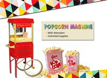 FUN FOOD MACHINES FOR HIRE - COTTON CANDY , POPCORN, ETC. - EVENT SERVICES