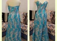 فستان سهرة سماوي