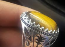 خاتم حجر عين النمر اصلي