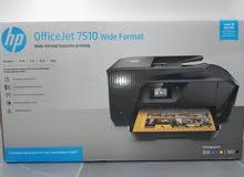 طابعة متعددة HP تطبع a3 و a4 وايرليس حبرها متوفر و رخيص جدا