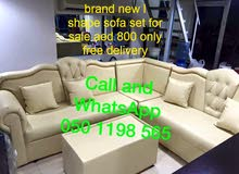 مجموعة L على شكل أريكة العلامة التجارية الجديدة للبيع 900 درهم فقط