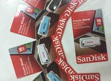 فلاشات SanDisk اصليه البيع للجمله فقط.سعه حقيقيه سرعة تخزين عاليه كفاله 3 سنوات