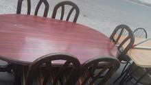 طاولة سفرة 6 مقاعد بحالة جيدة للبيع
