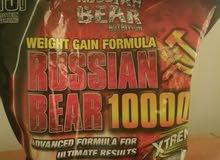بروتين الدب الروسي مستعمل منة اسبوعين بس