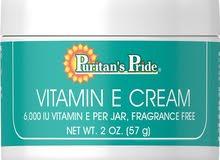 كريم فيتامين E لتفتيح بشره الوجه Puritans Pride Vitamin E Cream 6,000 IU