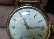 ساعة انتيك شغل قديم ملو جولد بلاتيد ماركة Poljot.